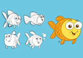 Mascot for Goldfish Swim School