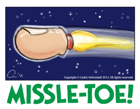 Missle-Toe Cartoon