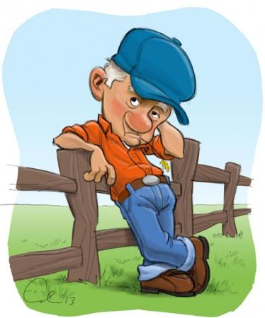 Farmer Sketch from Cedric Hohnstadt Illustration