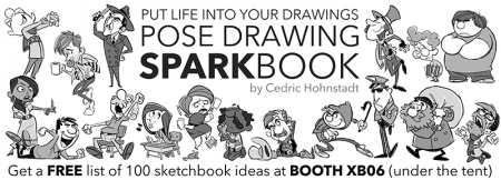 """Pose Drawing Sparkbook"" Ad for CTN Animation Expo"