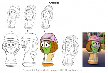 "Christina Turnarounds for ""Merry Larry"""