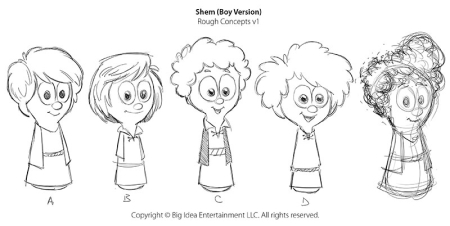 "VeggieTales ""Boy Shem"" Rough Concepts"