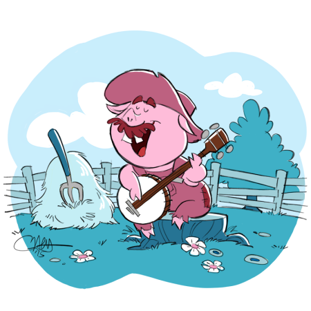 Bluegrass Banjo Pig